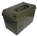 US Munitionskiste Kunststoff Kiste Army Ammo Box Cal. 50 mm oliv