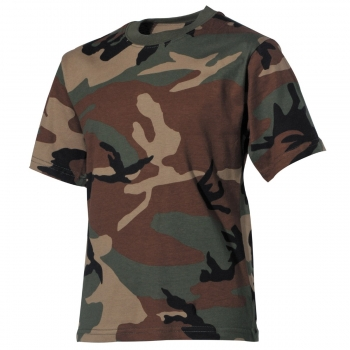 Kinder T-Shirt, woodland, halbarm