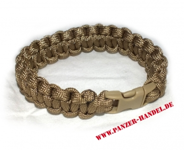 Paracord Armband in coyote tan Breite 1,9 cm ARMY OCP MTP