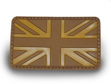 UK Flagge 3D Klett in Desert UK Army Patch