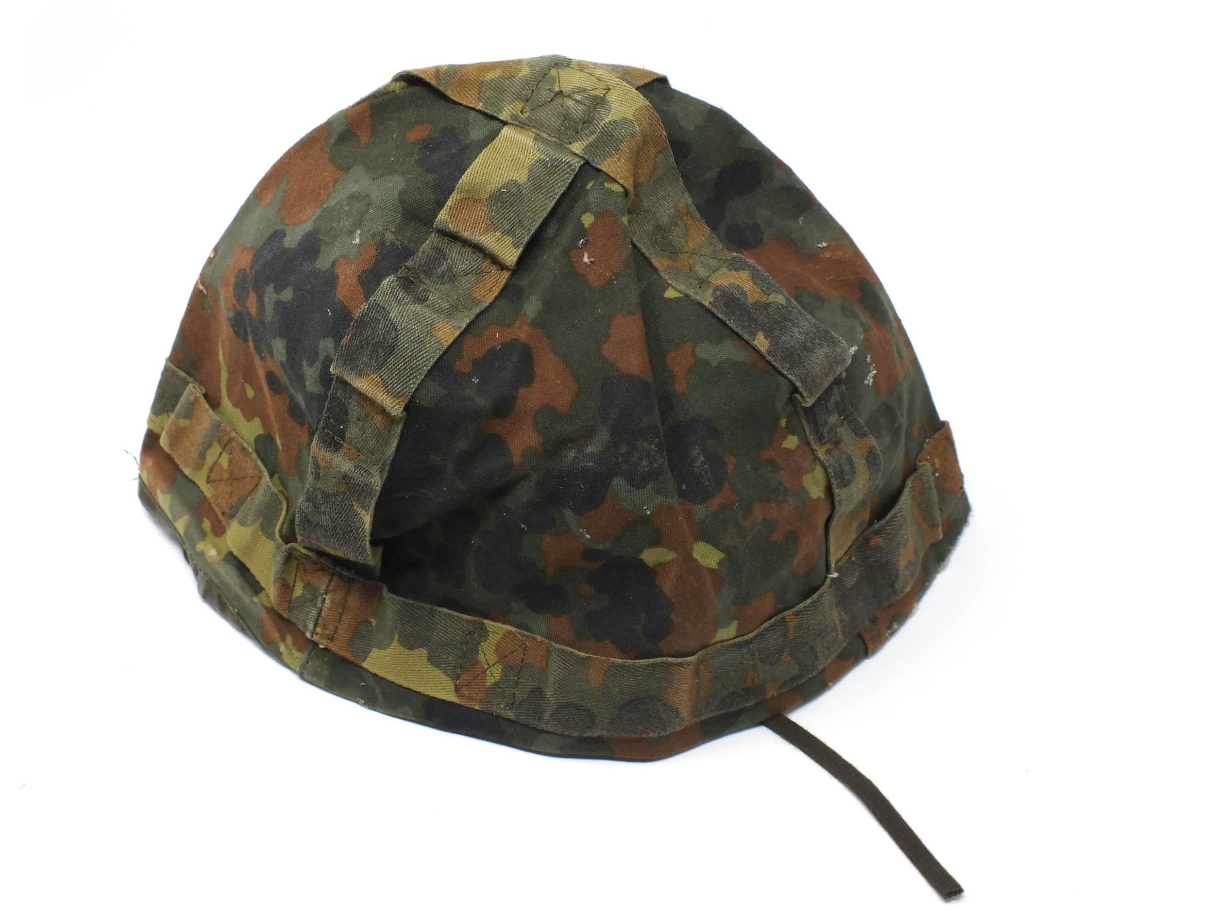 Stahlhelm Helm mit BW Helmbezug in flecktarn Armeehelm Paintball