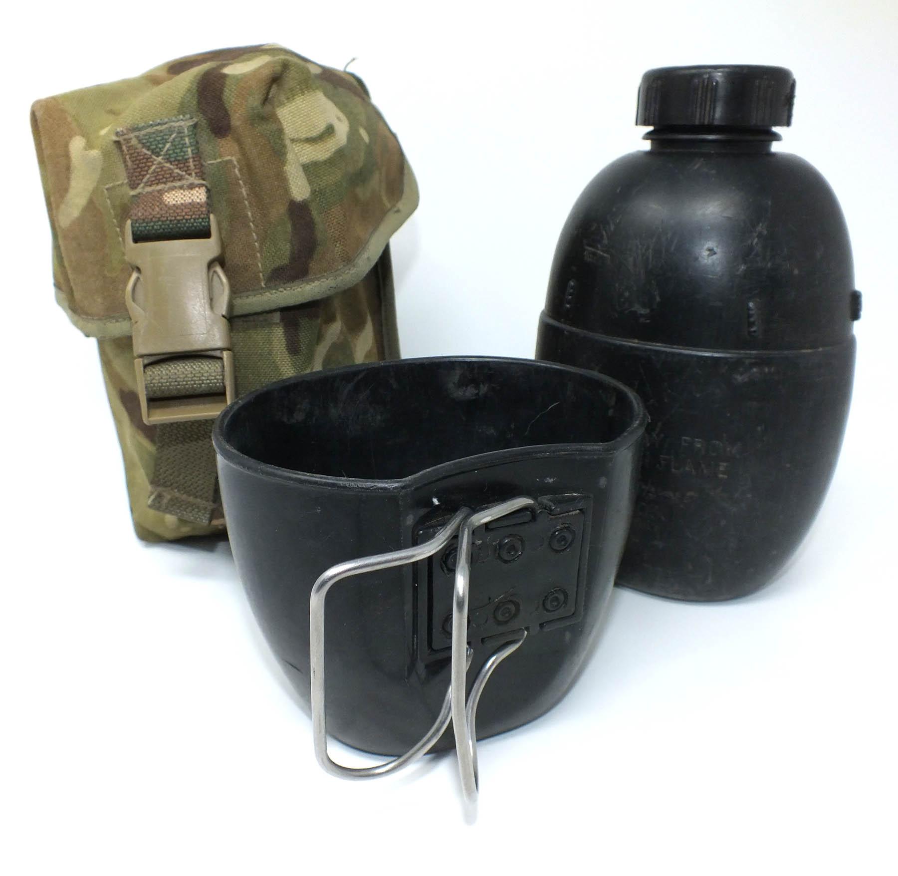 Panzer-Handel - MTP Feldflasche plus Feldflaschentasche,Gebraucht,UK ...