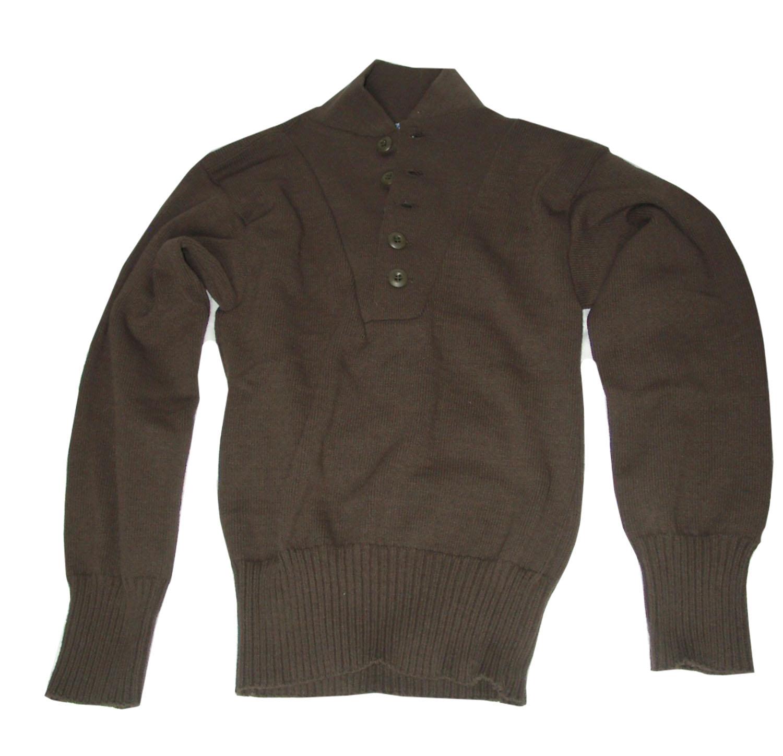 promo code c69ab 7e82a Original US ARMY Pullover 5 Button Sweater in Braun