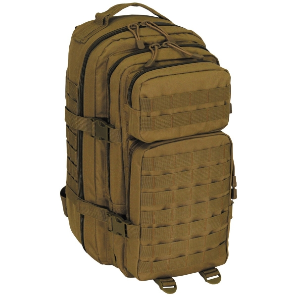 US Rucksack Assault I Basic in coyote tan