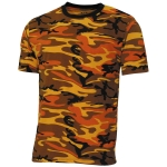 US T-Shirt, in Streetstyle, orange-camo