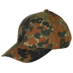 Kinder Base Ball Cap, mit Schild, größenverstellbar in BW flecktarn