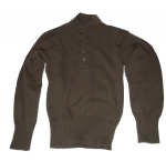 US Army Pullover 5 Button Sweater in Braun