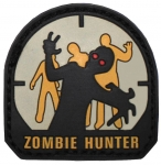 Klett Patch - Zombie Hunter (Gummi/Rubber) 3D Abzeichen Endzeit Monster